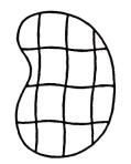 Organicstone - Stoneislands - Bean Maxi - outline drawing