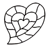 Organicstone - Stoneislands - Heart Maxi - outline drawing